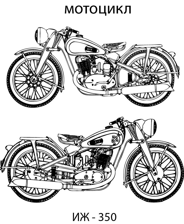 IZH 350 drawing